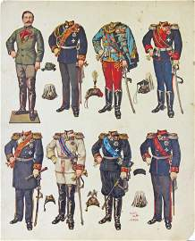 GERMAN, UNCUT PAPER DOLLS, GERMAN ROYALTY 1800s