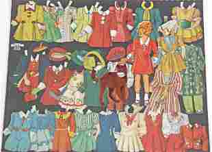 LARGE LOT OF LITTLE ORPHAN ANNIE PAPER DOLLS