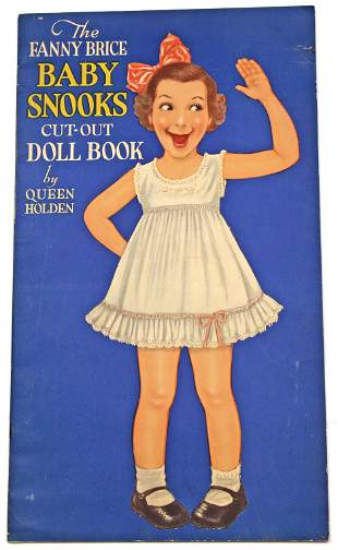 TWO UNCUT FANNY BRICE BABY SNOOKS PAPER DOLL BOOK BY