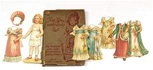 "GERMAN BOXED DRESSING PAPER DOLL ""FROM GRANDMOTHER'S"