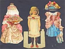 """TWO """"FAIR FRANCES"""" DRESSING DOLLS BY R. TUCK, 1894"""