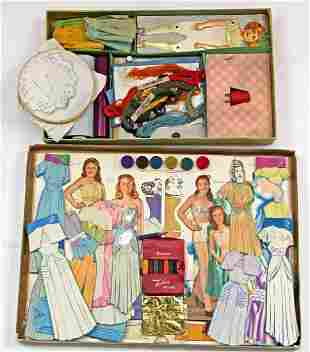 TWO RARE PAPER DOLL DESIGN SETS, 1900s