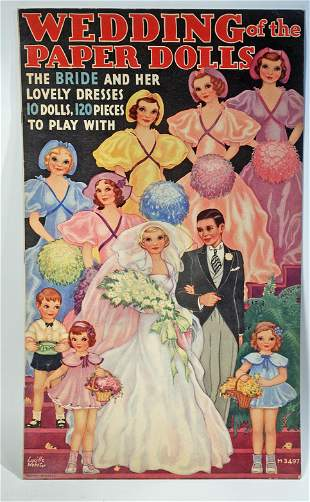 """AMERICAN PAPER DOLL BOOK """"WEDDING OF THE PAPER DOLLS"""""""