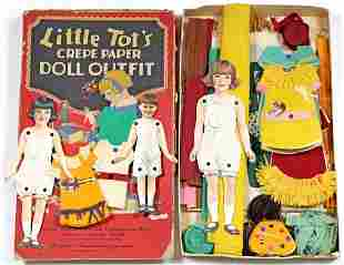 """DENNISON'S """"LITTLE TOT'S"""" CREPE PAPER BOX AND ONE EXTRA"""