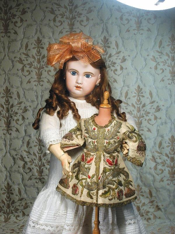24: LARGE FRENCH BISQUE BEBE BY JUMEAU. Marks: 1907