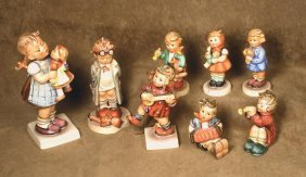 COLLECTION OF EIGHT HUMMEL FIGURINES. Marks: Ea