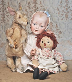 LIFE-SIZE GERMAN BISQUE CHARACTER BABY BY KESTNER