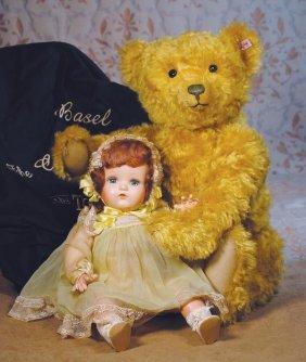 """LARGE STEIFF """"BASEL"""" TEDDY BEAR. 25"""". Luxurious G"""
