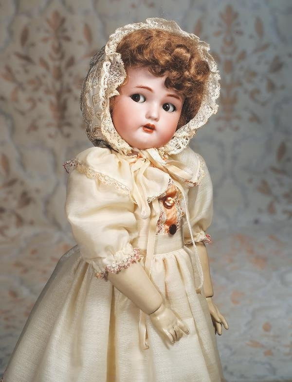 95: FLIRTY-EYED GERMAN BISQUE DOLL BY KAMMER & REINHA