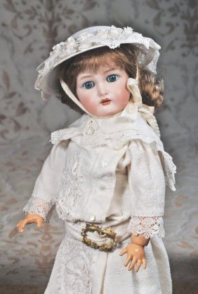 GERMAN BISQUE DOLL BY KAMMER & REINHARDT. Marks: