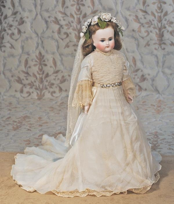 100: GERMAN BISQUE CLOSED-MOUTH DOLL BY ALT, BECK & G