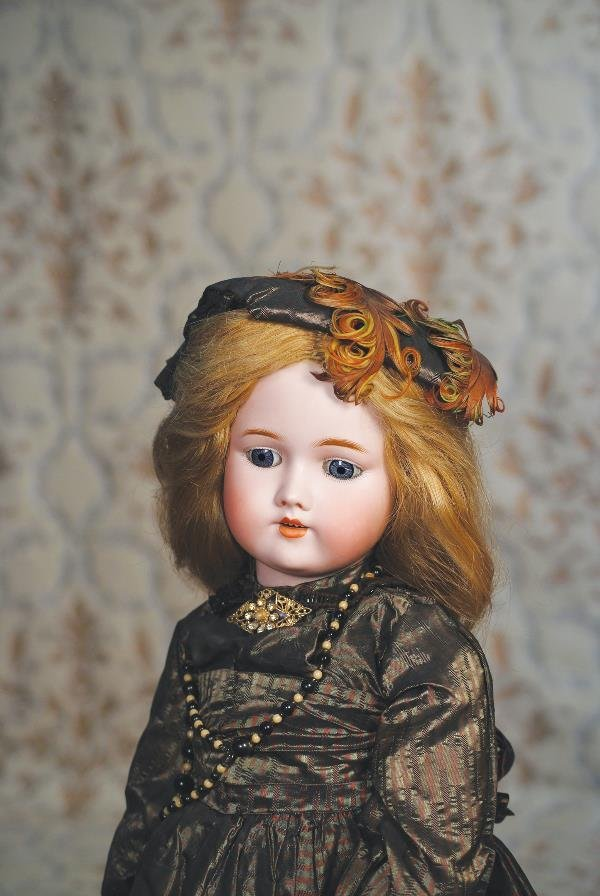 108: GERMAN BISQUE DOLL BY C.M. BERGMANN. Marks: C.