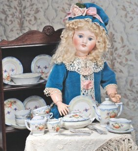 FRENCH BISQUE DOLL BY S.F.B.J. Marks: 23/D, S.