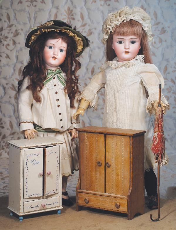 125: GERMAN BISQUE DOLL BY KLEY AND HAHN. Marks: Ge