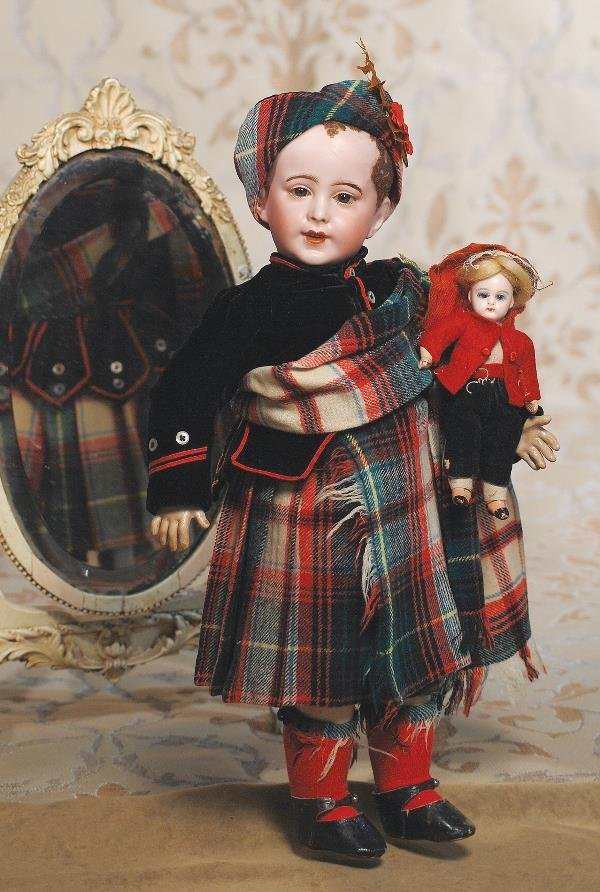 130: MINIATURE FRENCH BISQUE DOLL BY GAUTHIER. Marks