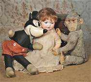 199: EARLY MICKEY MOUSE CHARACTER DOLL. No markings.