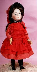 FRENCH BISQUE DOLL WITH WALKER BODY BY S.F.B.J