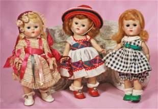THREE VOGUE GINNY DOLLS