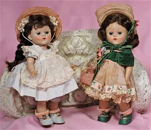 "TWO VOGUE GINNY DEBUTANTE SERIES DOLLS ""PAMELA"" AND"