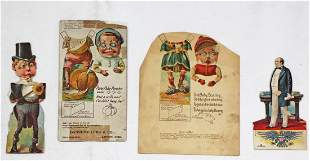 UNCUT EARLY ADVERTISING PAPER DOLLS AND STORY SET