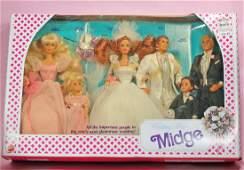 MATTEL 1990 WEDDING PARTY MIDGE GIFT SET.