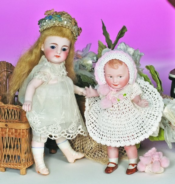 50: GERMAN ALL- BISQUE DOLL FOR THE FRENCH MARKET BY SI