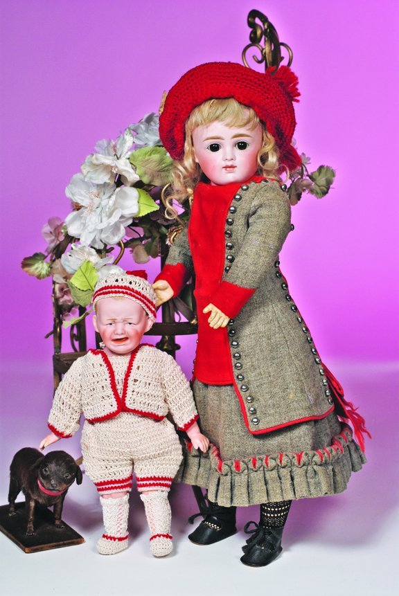 59: GERMAN BISQUE CLOSED-MOUTH DOLL BY KESTNER.  Marks: