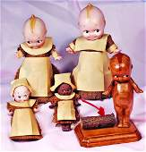 336 FOUR GERMAN BISQUE KEWPIE PILGRIMS  Marks  ON
