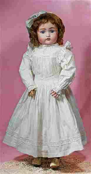 """GERMAN BISQUE CHILD, 192, BY KAMMER AND REINHARDT. 24""""."""
