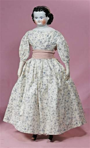 """GERMAN PORCELAIN DOLL KNOWN AS """"ADELINA PATTI""""."""