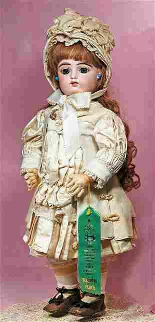 FRENCH BISQUE BEBE BY GAULTHIER WITH RARE DOUBLE ROW OF