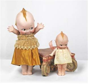 TWO ALL-BISQUE KEWPIES