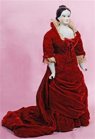 CHINA LADY LUCY WEBB HAYES IN RED VELVET COSTUME