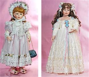TWO CONTEMPORARY COLLECTOR DOLLS