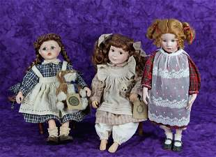 THREE CONTEMPORARY COLLECTIBLE DOLLS