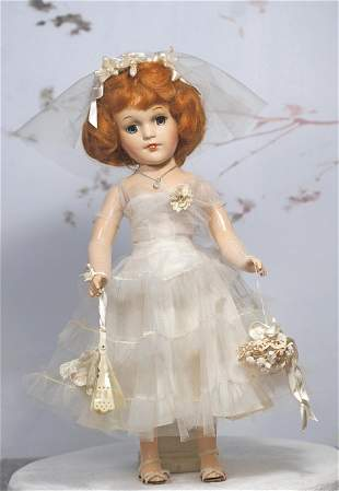 COMPOSTION MARY HOYER BRIDE DOLL WITH RED HAIR