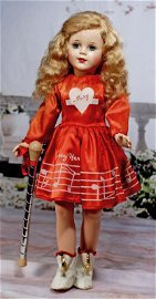 RARE, LARGEST SIZE MARY HARTLINE DOLL WITH BATON, BY