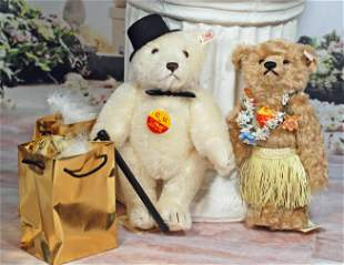 """TWO STEIFF COLLECTOR BEARS FOR """"CU GATHERING"""""""