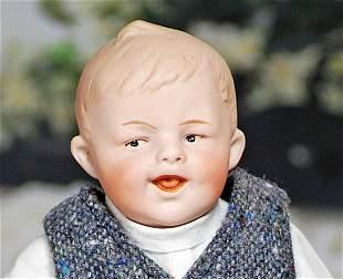 GEBRUDER HEUBACH BISQUE CHARACTER BOY