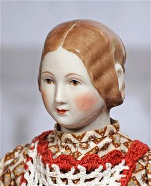 FINE ARTIST MODEL OF RARE K. P. M. CHINA LADY WITH