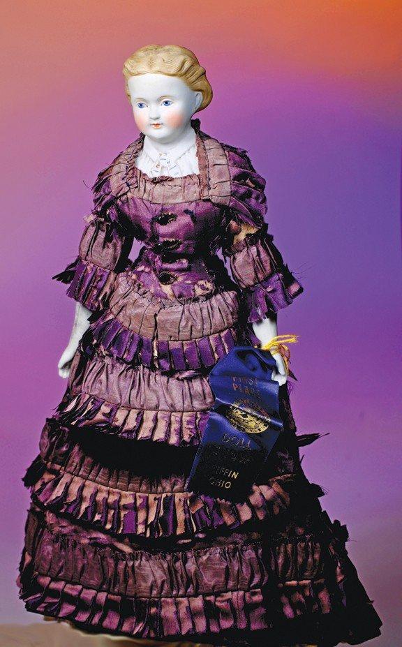 """17: PARIAN BISQUE LADY IN ORIGINAL COSTUME.  18"""".  Bisq"""