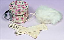 35: ANTIQUE FRENCH FASHION ACCESSORY GROUP. Includes: