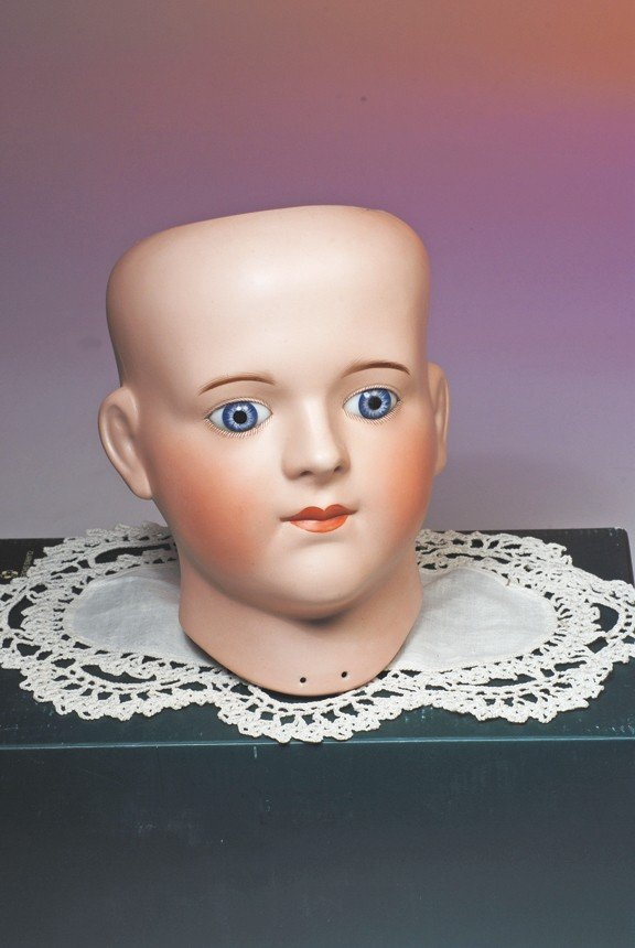 113: FRENCH BISQUE MANNEQUIN HEAD BY GAUTHIER.  Marks: