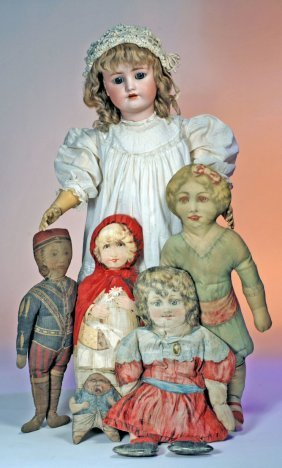 LARGE GERMAN BISQUE DOLL BY HANDWERCK.  Marks:  He