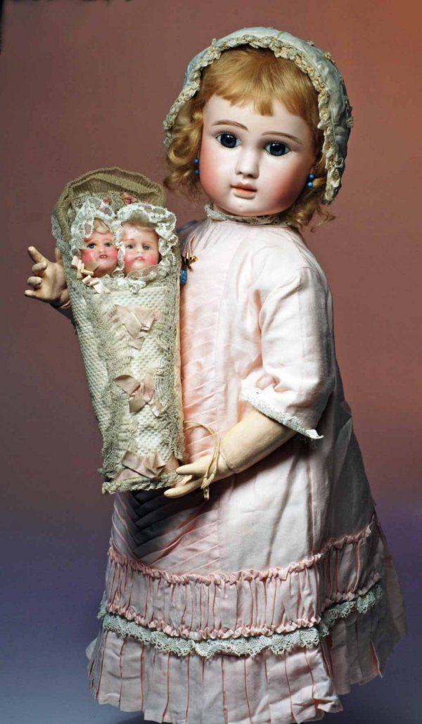"""164: BEAUTIFUL STEINER FRENCH BISQUE """"FIGURE A"""" BEBE IN"""