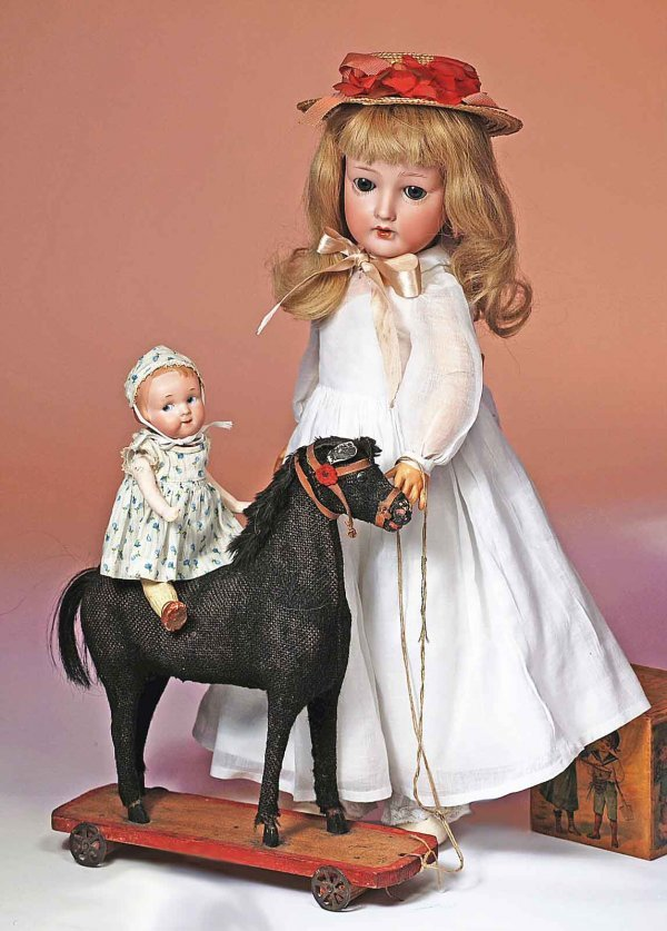 171: GERMAN BISQUE DOLL BY OLHAVER.  Marks:  150 German