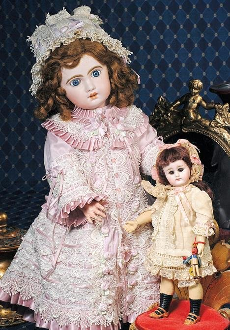 23:  PETITE CLOSED-MOUTH GERMAN BISQUE DOLL - MYSTERY M