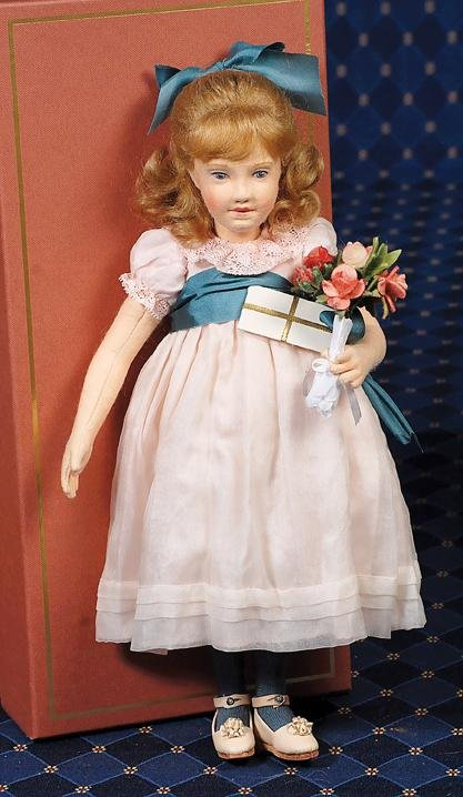 """43:  R. JOHN WRIGHT """"ABIGAIL"""" CABINET SIZE DOLL FOR THE"""