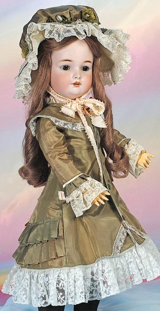 2: GERMAN BISQUE DOLL BY SIMON & HALBIG FOR C.M. BERGMA