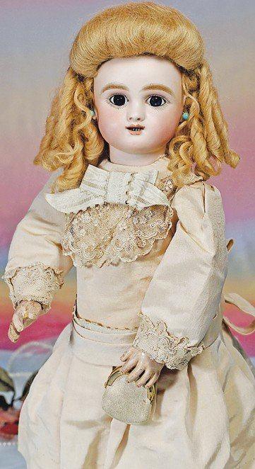 """5: FRENCH BISQUE STEINER """"FIGURE B"""" BEBE WITH LEVER EYE"""